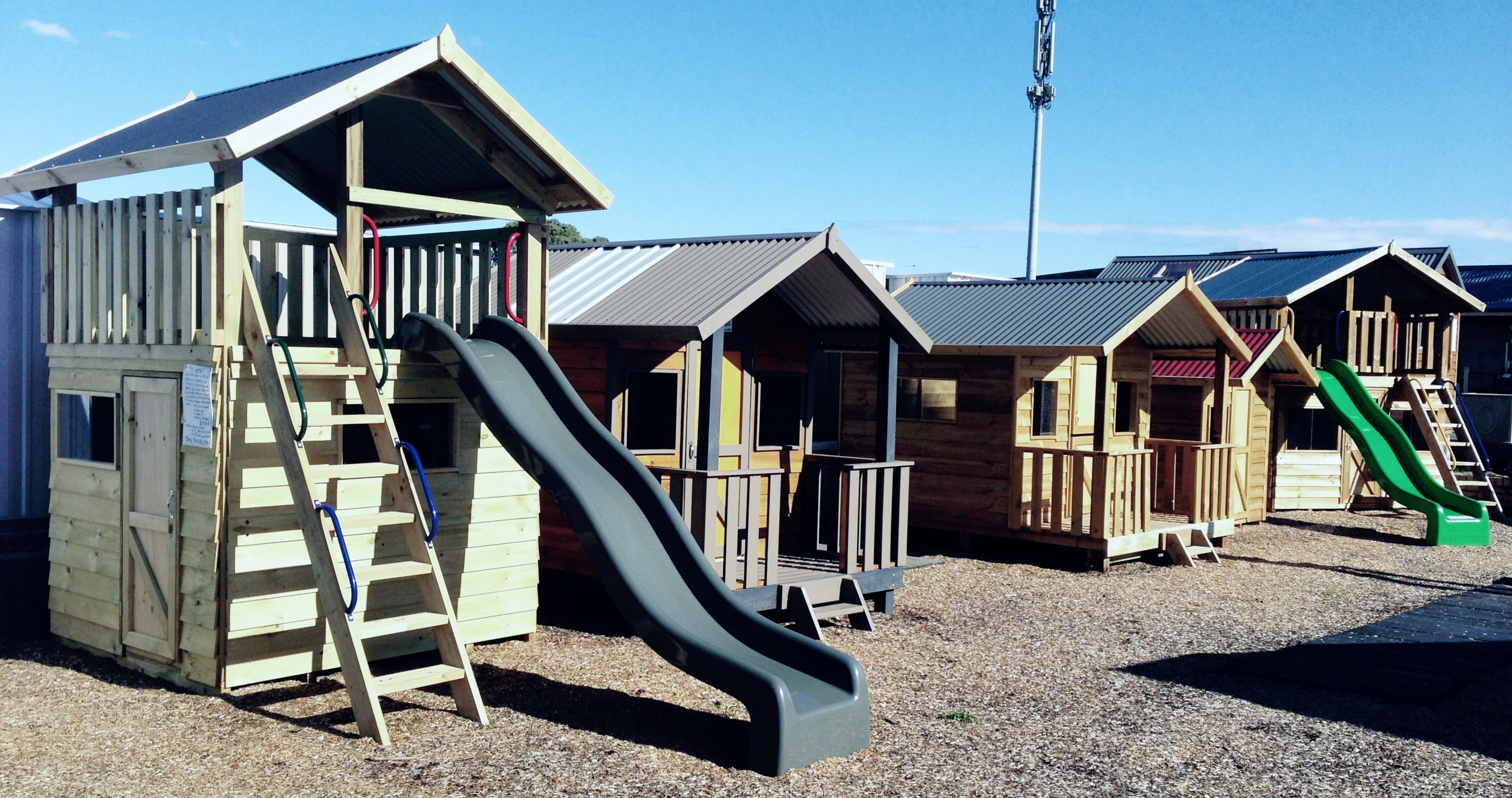 cubby houses swings