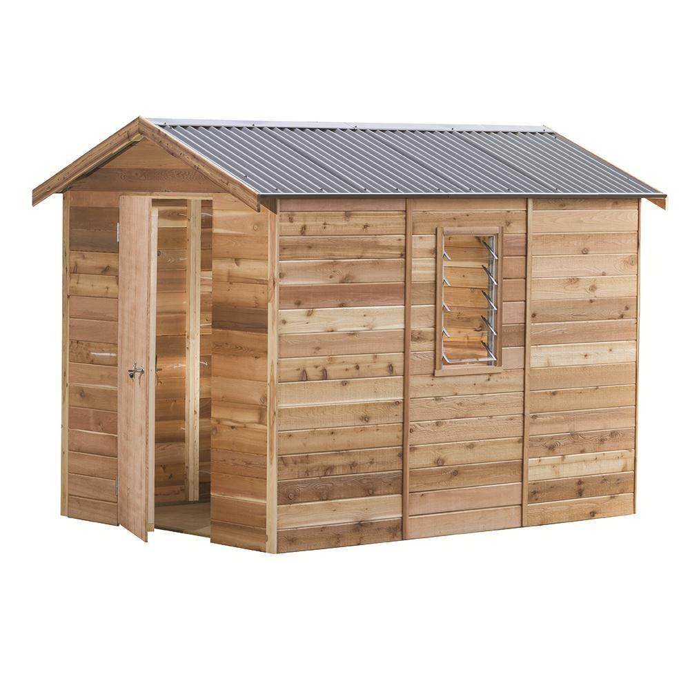 garden shed interlock cedar shed parkdale 2