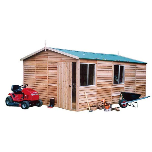 Garden Shed Cedar Shed -Macedon Deluxe - 3.8mw x 6.0md x 2.7mh
