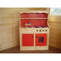 Kids Wooden Sink, Stove & Dresser Combination Unit