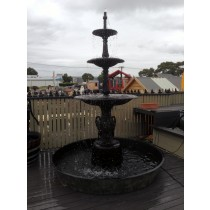 3 Tier Cast Iron Heron Fountain