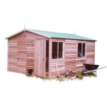 Garden Shed Cedar Shed - Kyneton Deluxe - 3.8mw x 4.8md x 2.7mh