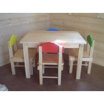 Kids Wooden Table & Chairs