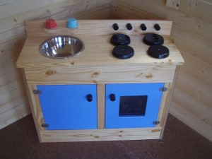 Wooden Sink & Stove