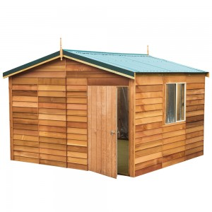 Garden Shed Cedar Shed - Gisborne Deluxe - 3.8mw x 3.6md x 2.7mh
