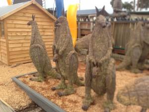 Kangaroo and Joey Statue